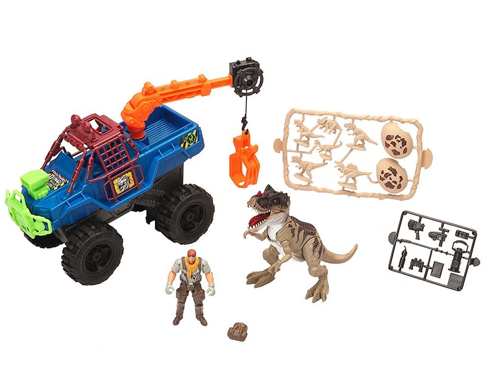 Купить Игровой набор: охотник на динозавра с грузовиком-ловушкой, Chap Mei