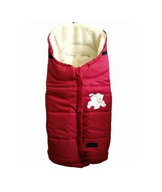 Спальный мешок в коляску №12 из серии Wintry, цвет – ярко-красный - Прогулки и путешествия, артикул: 171093