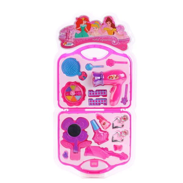 Набор аксессуаров для девочек - ПринцессыЮная модница, салон красоты<br>Набор аксессуаров для девочек - Принцессы<br>