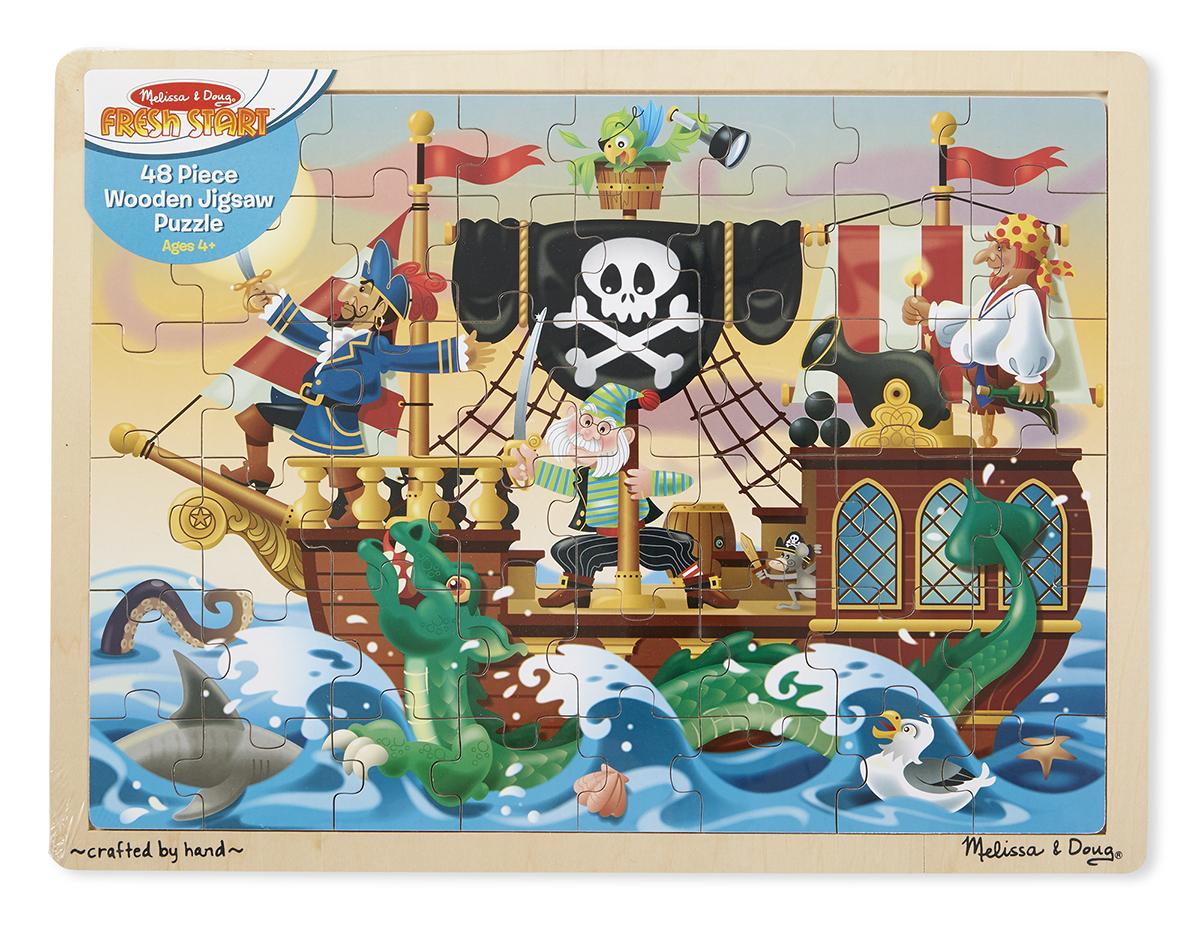 Купить Мои первые пазлы - Приключение пиратов, 48 элементов, Melissa&Doug