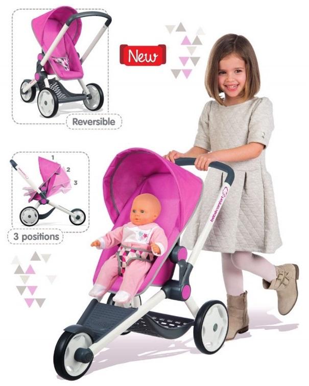 Купить Коляска для кукол MC&Quinny трехколесная, розовая, Smoby