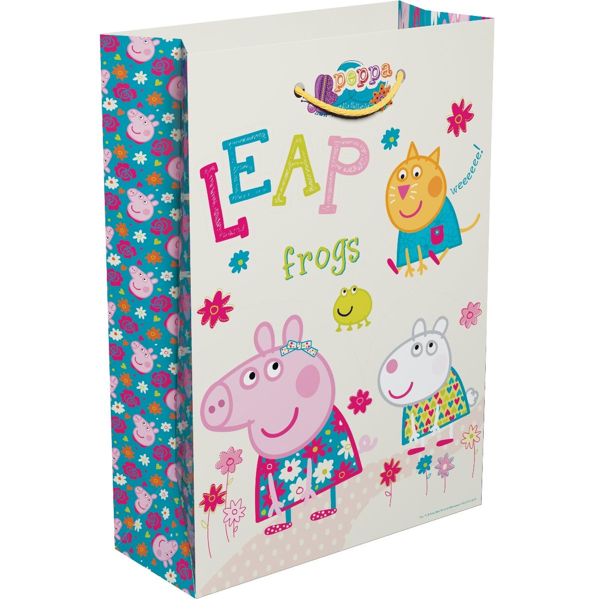 Пакет подарочный - Весна Пеппы, 35 х 25 х 9 смСвинка Пеппа Peppa Pig<br>Пакет подарочный - Весна Пеппы, 35 х 25 х 9 см<br>