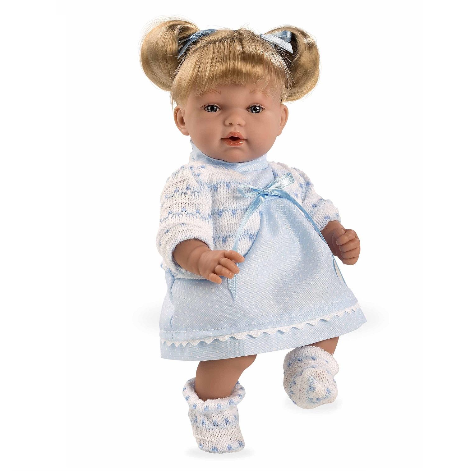 Купить Мягкая кукла из серии Arias Elegance, смеется, в голубом платье, 28 см.