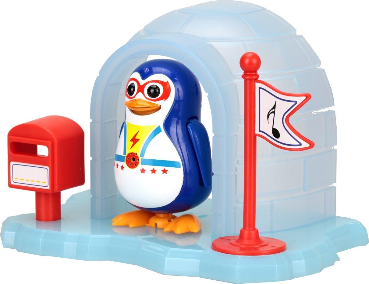 Интерактивная игрушка - Пингвин в домике, синий