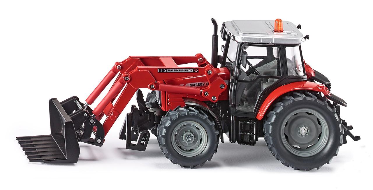 Купить Трактор с ковшом-вилами, красный, масштаб 1:32, Siku