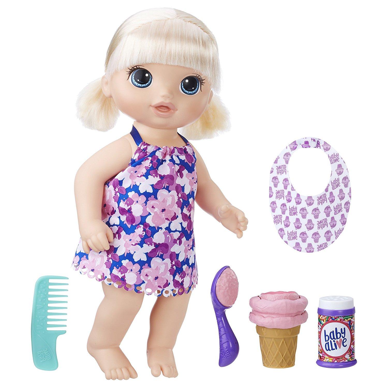Кукла Baby Alive - Малышка с мороженным, 31,5 смИнтерактивные куклы<br>Кукла Baby Alive - Малышка с мороженным, 31,5 см<br>