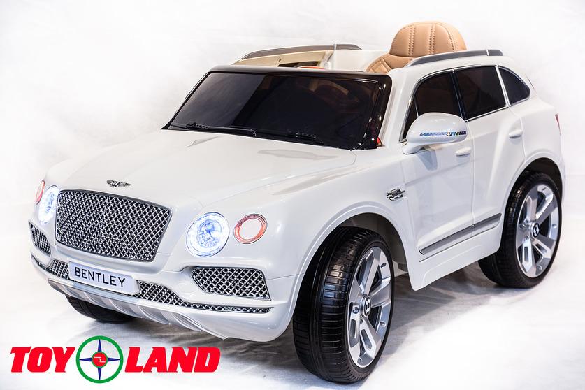 Электромобиль Bentley Bentayga белого цветаЭлектромобили, детские машины на аккумуляторе<br>Электромобиль Bentley Bentayga белого цвета<br>