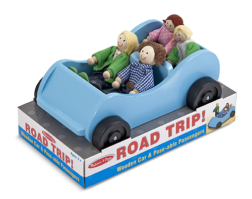 Игровой набор - Машина и кукольная семьяКукольные домики<br>Игровой набор - Машина и кукольная семья<br>