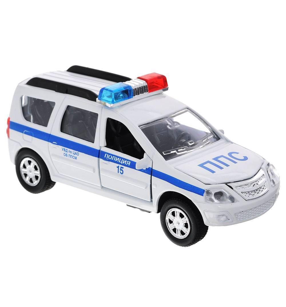 Купить Инерционная металлическая машина Lada Largus - Полиция, свет, звук 1:43, Технопарк