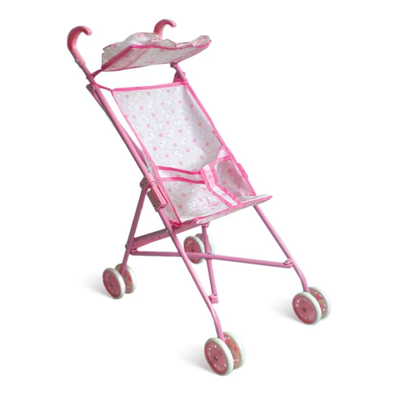 Купить Коляска-трость для кукол с козырьком, розовая, 1TOY
