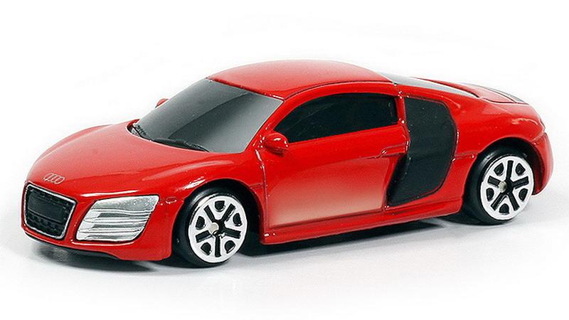 Купить Металлическая машина - Audi R8 V10, 1:64, красный, RMZ City