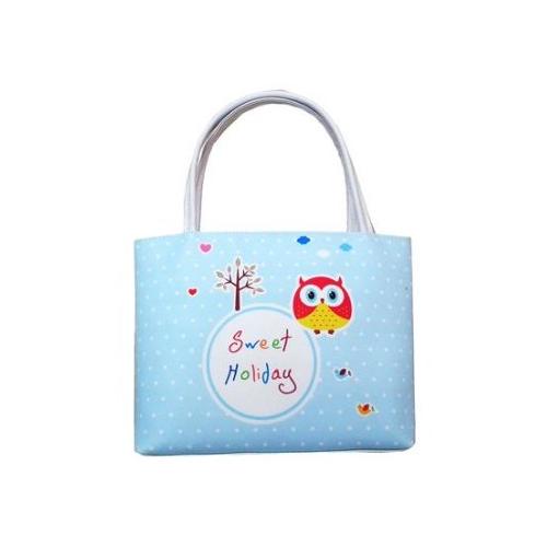Сумочка для девочки Совушка голубая, 23 см.Детские сумочки<br>Сумочка для девочки Совушка голубая, 23 см.<br>