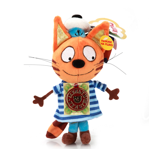 Озвученная мягкая игрушка Три кота – Коржик, 14 смГоворящие игрушки<br>Озвученная мягкая игрушка Три кота – Коржик, 14 см<br>