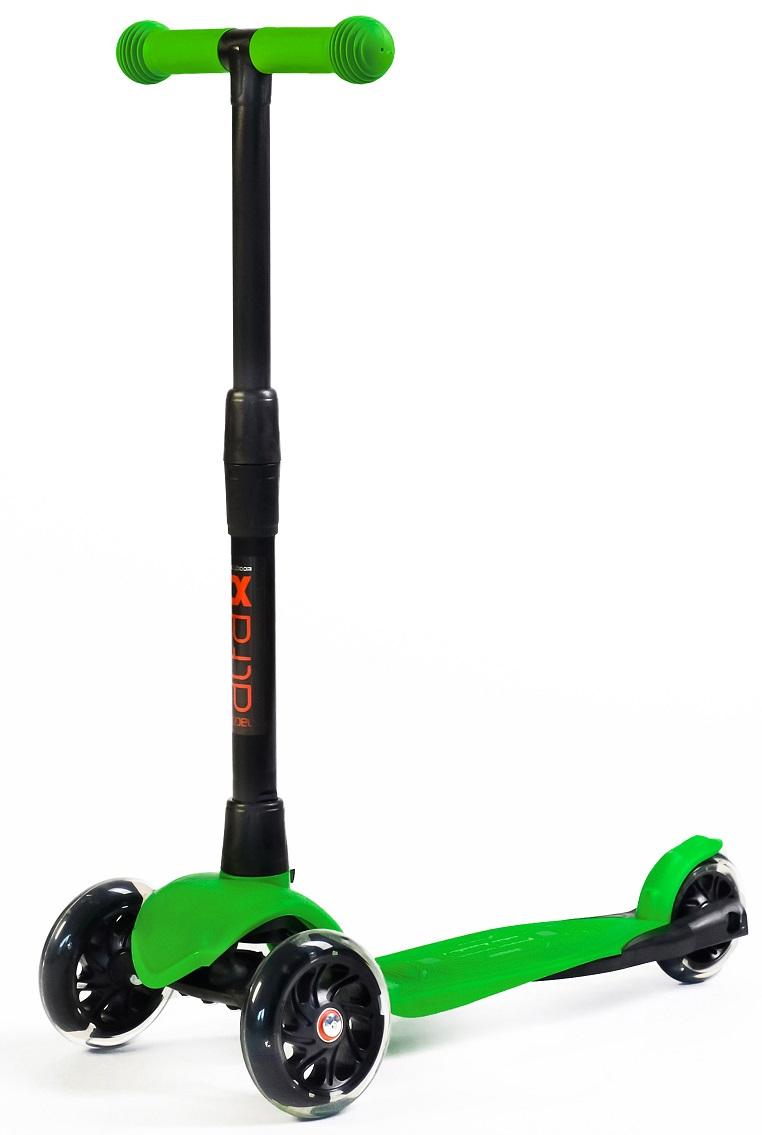 Купить Самокат Альфа Alfa Model Buggy Boom со светящимися колесами, цвет зеленый, Buggy Boom Alfa model