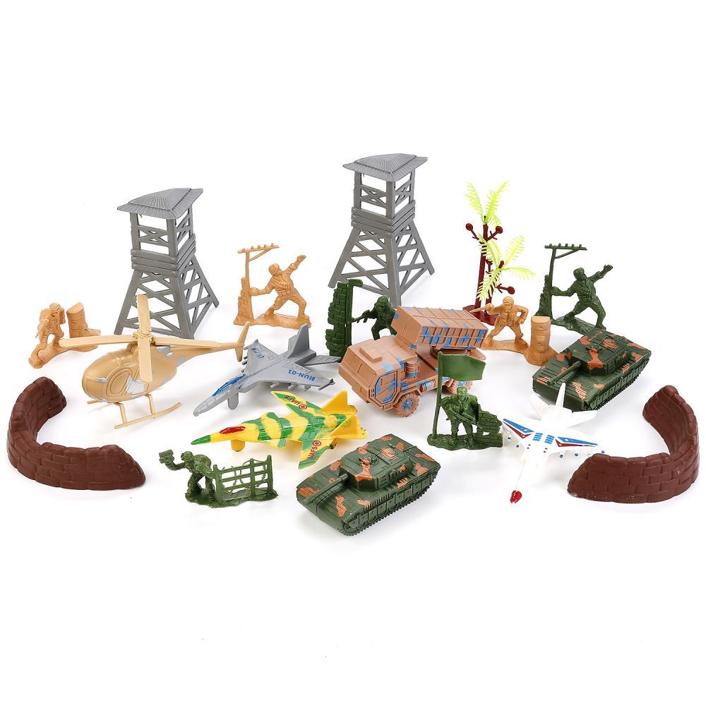 Купить Игровой набор солдатиков с военной техникой и аксессуарами, Играем вместе