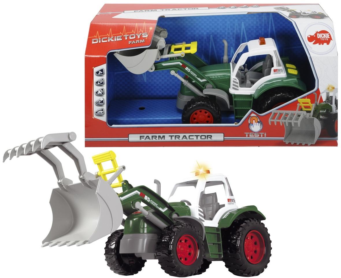 Трактор со светом и звуком, 34 смИгрушечные тракторы<br>Трактор со светом и звуком, 34 см<br>