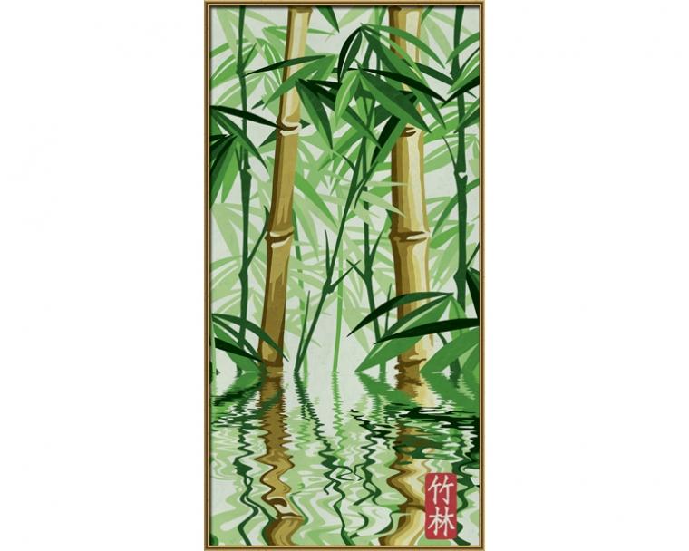 Набор для творчества Бамбуковый лес, 40х80смРаскраски по номерам Schipper<br>Набор для творчества Бамбуковый лес, 40х80см<br>