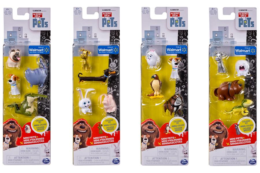 Купить 4 мини-фигурки Secret Life of Pets - Тайная жизнь домашних животных, Spin Master