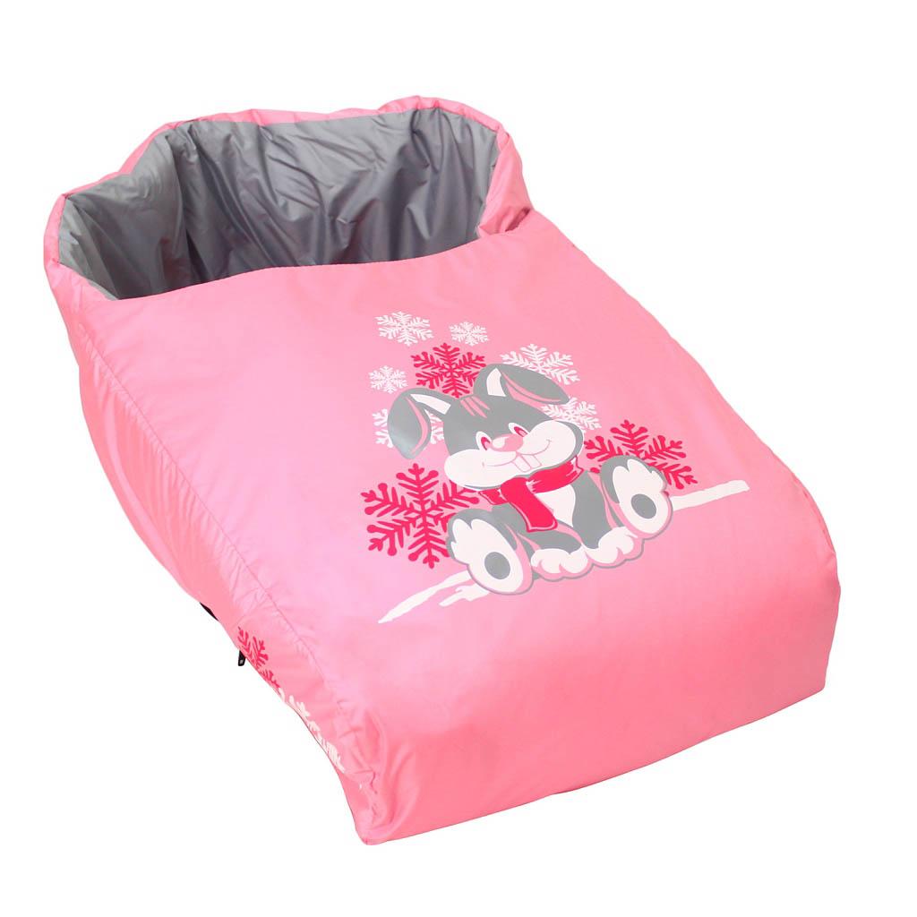 Матрасик с попоной – Зайка, розовыйМатрасики, муфты, чехлы в санки<br>Матрасик с попоной – Зайка, розовый<br>