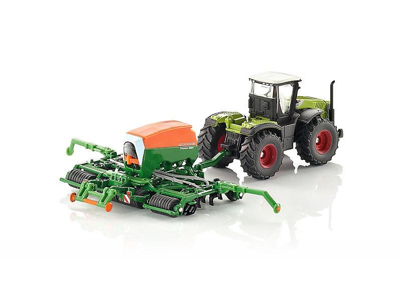 Купить Модель трактора с сеялкой, 1:87, Siku