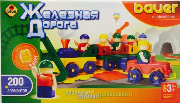 Конструктор  Железная дорога  New, 200 элементов - Конструкторы Bauer Кроха (для малышей), артикул: 127399