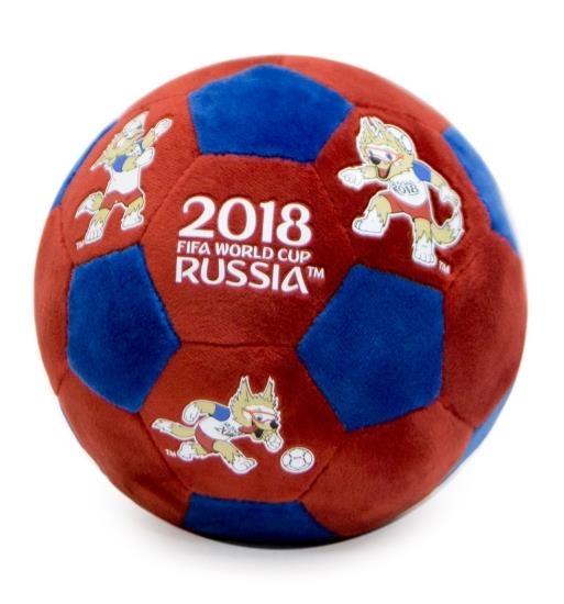 Купить Талисман чемпионат мира по футболу FIFA-2018 – плюшевый мяч Волк Забивака, 17 см, красно-синий, 1TOY