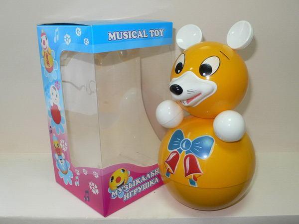 Музыкальная неваляшка для малышей - Мышка по цене 402