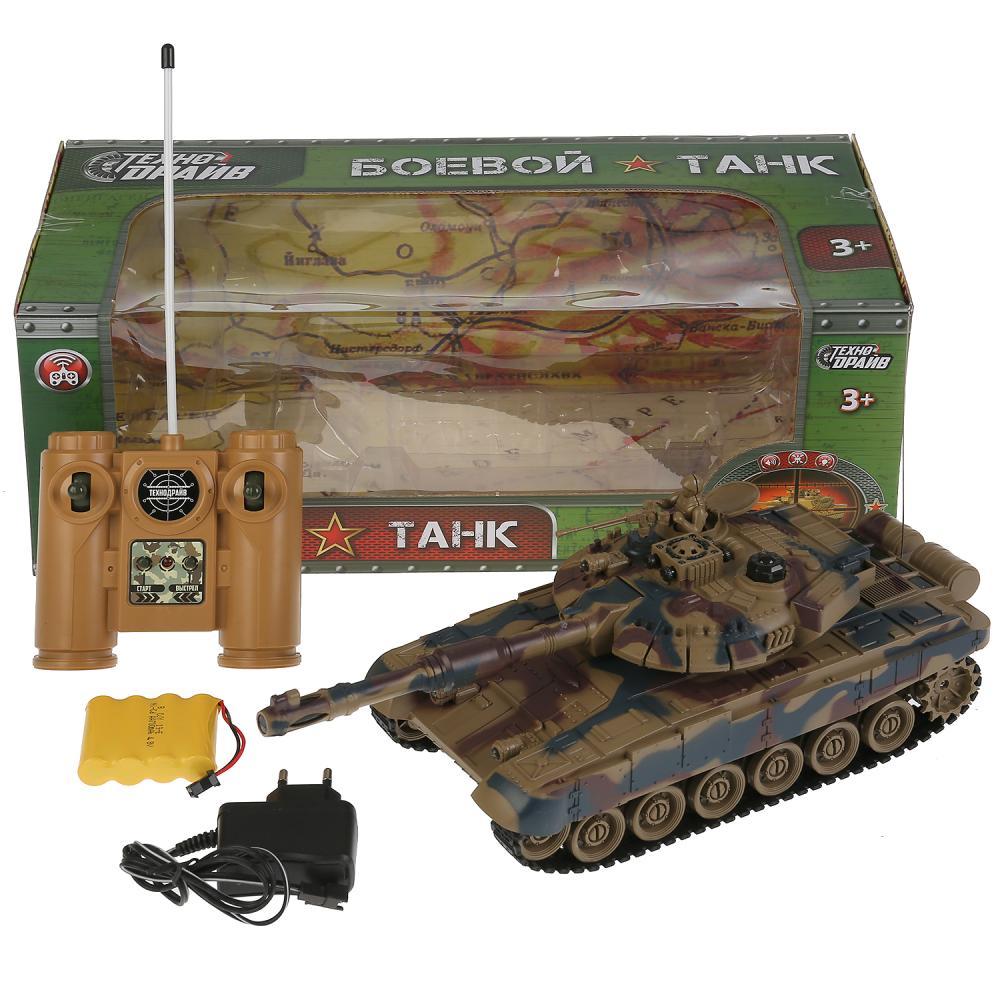 картинка Танк на р/у на аккумуляторе, свет и звук от магазина Bebikam.ru