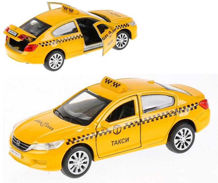 Купить Машина металлическая Honda Accord Такси, 12 см, открываются двери, инерционная, Технопарк