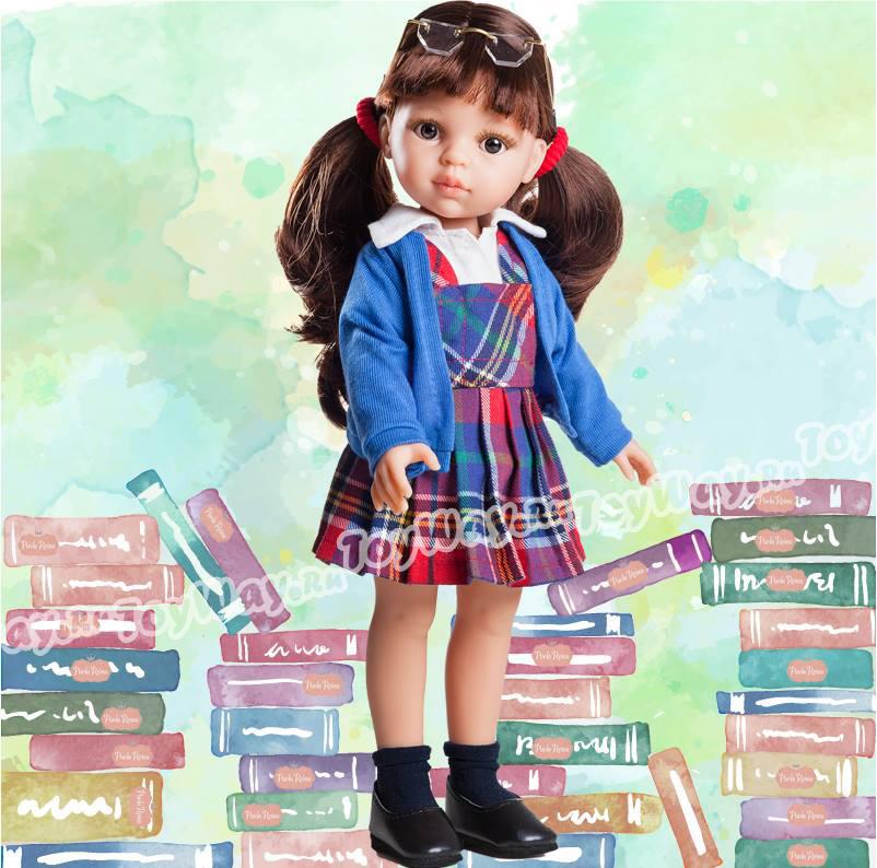 Кукла Кэрол школьница, 32 см.Испанские куклы Paola Reina (Паола Рейна)<br>Кукла Кэрол школьница, 32 см.<br>