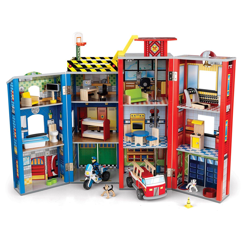Игровой набор для мальчиков  Здание спасательной службы, 28 элементов - Самолеты, службы спасения, артикул: 160597