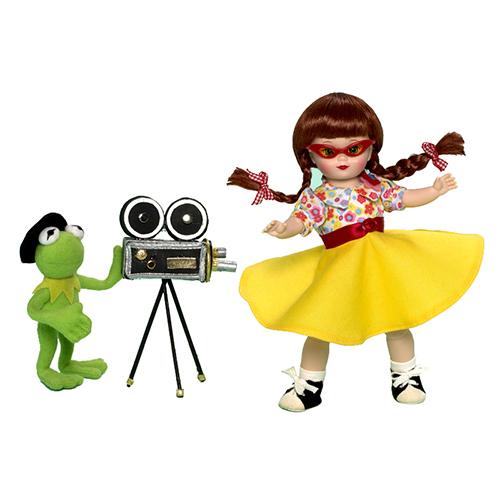 Набор кукол - Мегги и Кермит в Голливуде, 20 см.Коллекционные куклы<br>Набор кукол - Мегги и Кермит в Голливуде, 20 см.<br>