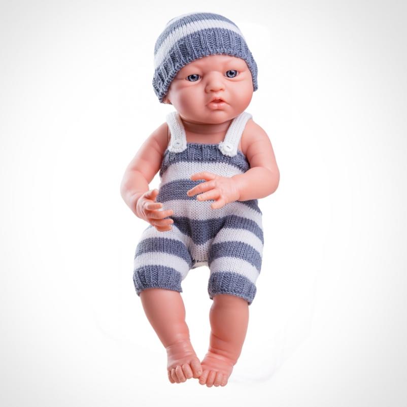 Купить Кукла Бэби в сером, 36 см., Paola Reina