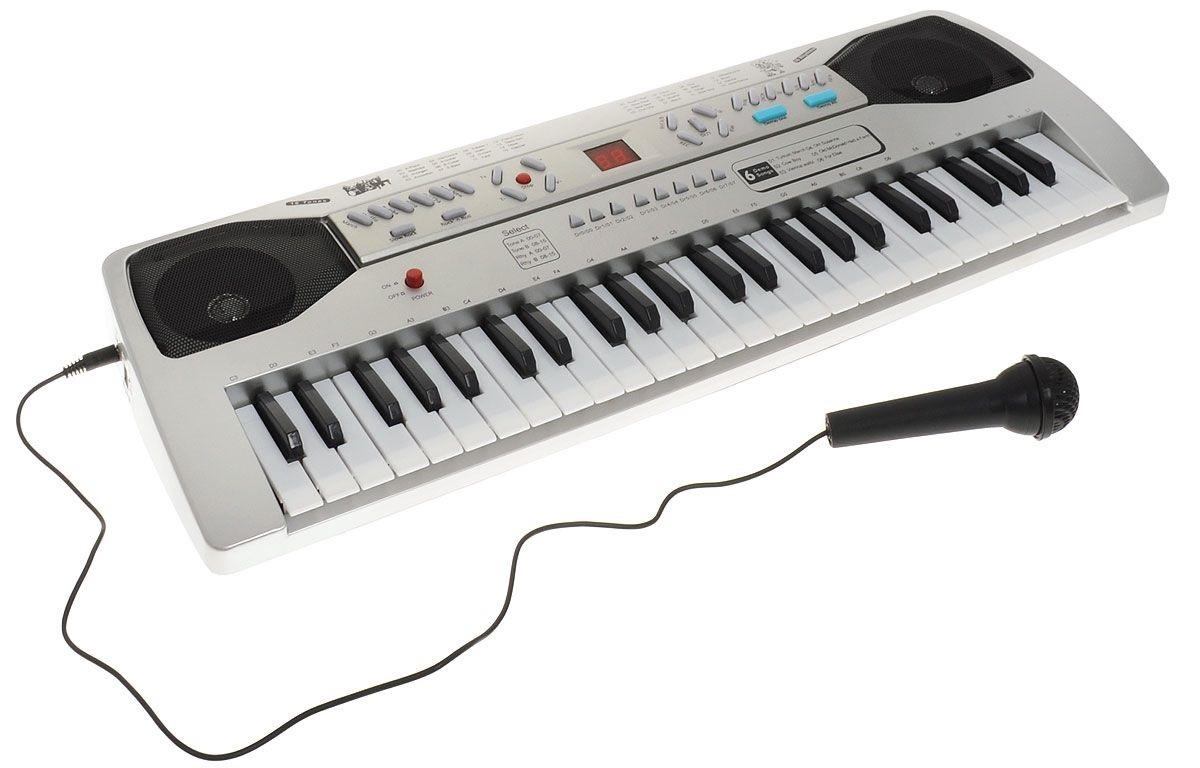 Купить Синтезатор – DoReMi белого цвета, 49 клавиш, ABtoys