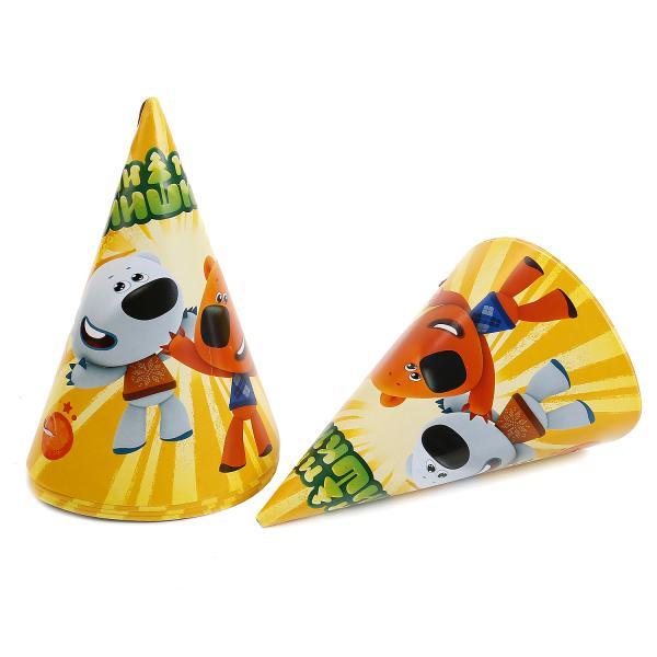 Набор из 6 бумажных колпачков - Мими МишкиКарнавальные маски и колпаки<br>Набор из 6 бумажных колпачков - Мими Мишки<br>