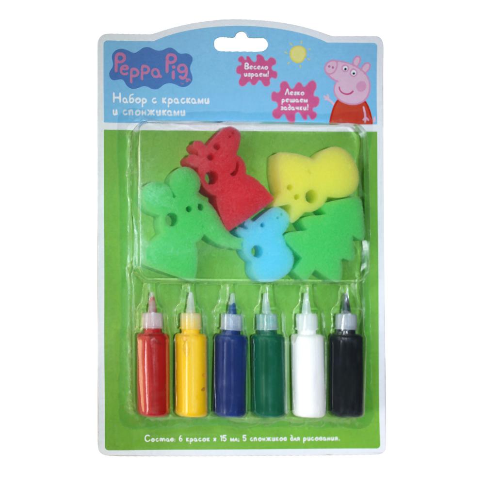 Набор с красками и спонжиками, Peppa PigСвинка Пеппа Peppa Pig<br>Набор с красками и спонжиками, Peppa Pig<br>