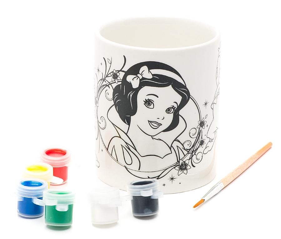 Кружка для росписи с рисунком - Disney - Белоснежка, краски и кисточка в комплектеРоспись по керамике и камню<br>Кружка для росписи с рисунком - Disney - Белоснежка, краски и кисточка в комплекте<br>
