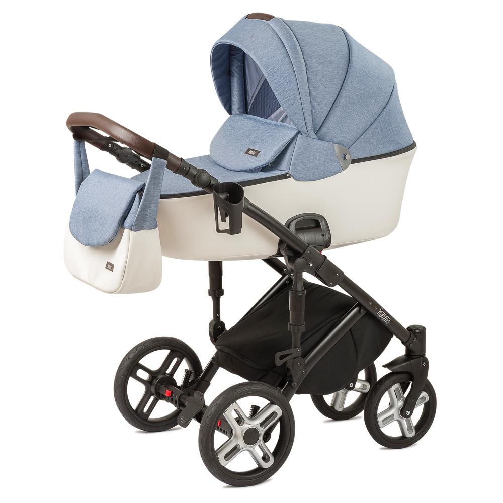 Купить Детская коляска Nuovita Carro Sport 2 в 1, цвет Denim bianco/Джинсово-белый
