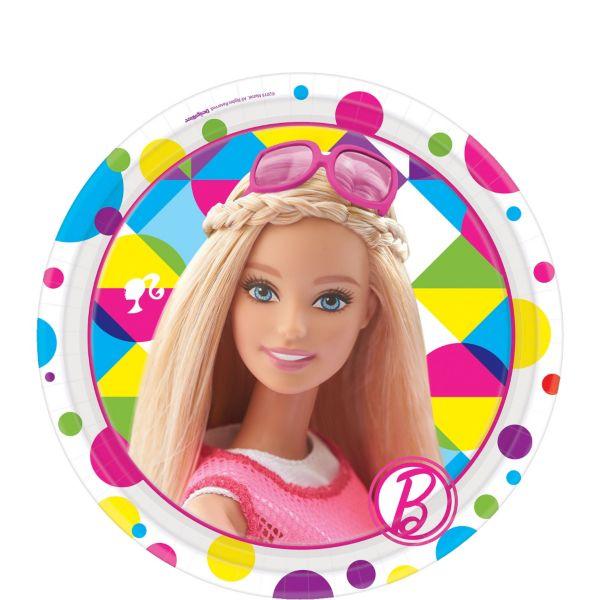 Набор тарелок Барби 17см, 8 штукBarbie (Барби)<br>Набор тарелок Барби 17см, 8 штук<br>