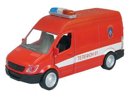 Купить со скидкой Металлическая охранная пожарная машинка Germany Panel Van, масштаб 1:34