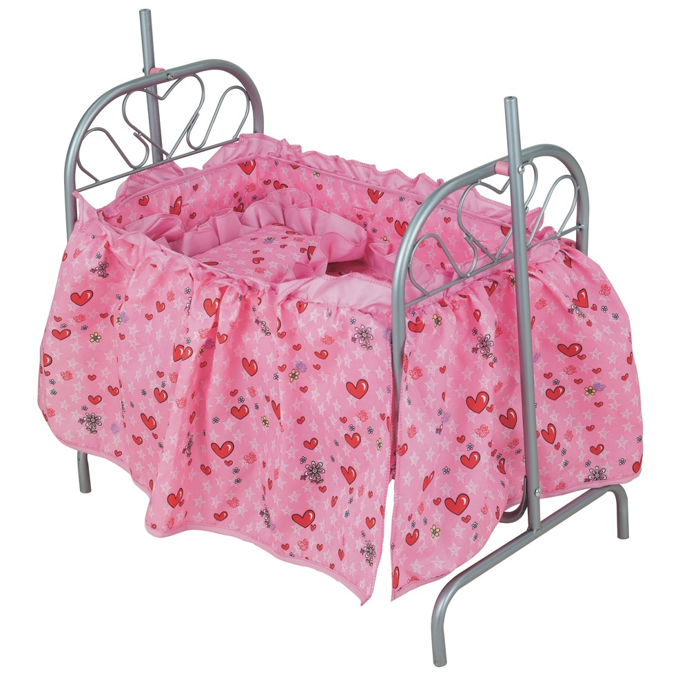 Кукольная кроватка с качающейся колыбелькойДетские кроватки для кукол<br>Кукольная кроватка с качающейся колыбелькой<br>