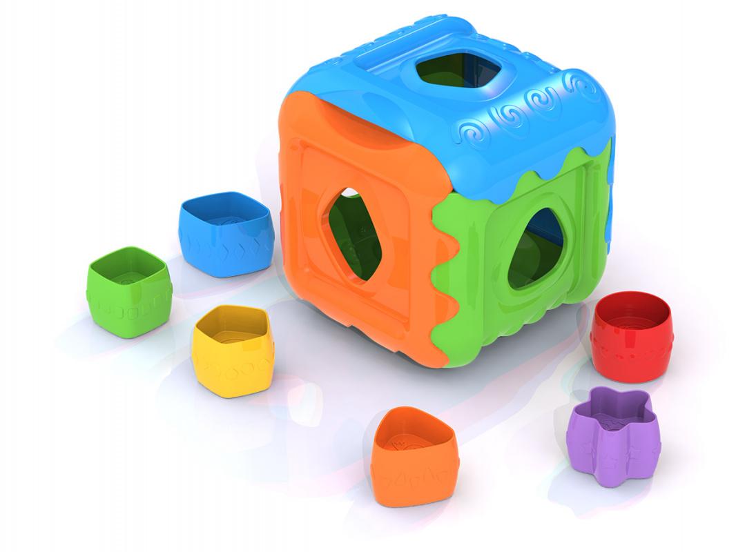 Купить Дидактическая игрушка-сортер - Кубик, Нордпласт