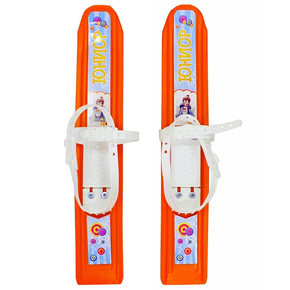 Мини-лыжи Пингвин-юниор с пластиковым креплением - оранжевыеЛыжи<br>Мини-лыжи Пингвин-юниор с пластиковым креплением - оранжевые<br>