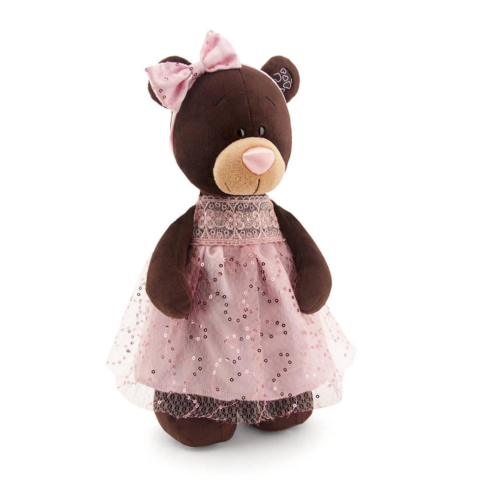 Медведь девочка Milk, стоячая, 30 см, Orange  - купить со скидкой