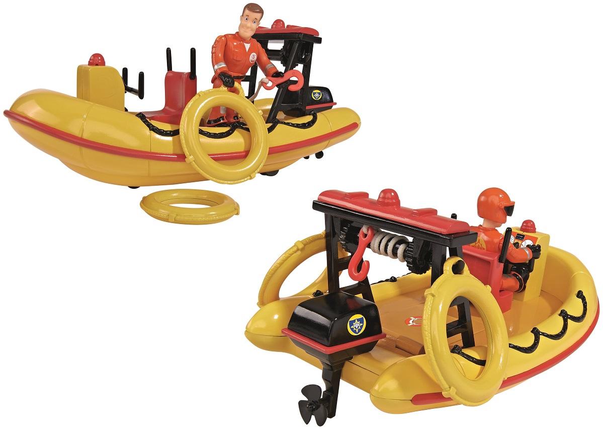Лодка спасателей из серии «Пожарный Сэм», с аксессуарами и фигуркой, 20 см.Пожарный СЭМ<br>Лодка спасателей из серии «Пожарный Сэм», с аксессуарами и фигуркой, 20 см.<br>