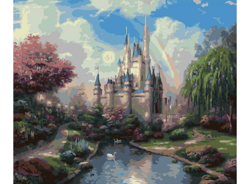 Купить Раскраски по номерам - Картина «Сказочный замок», 40 х 50 см., Белоснежка
