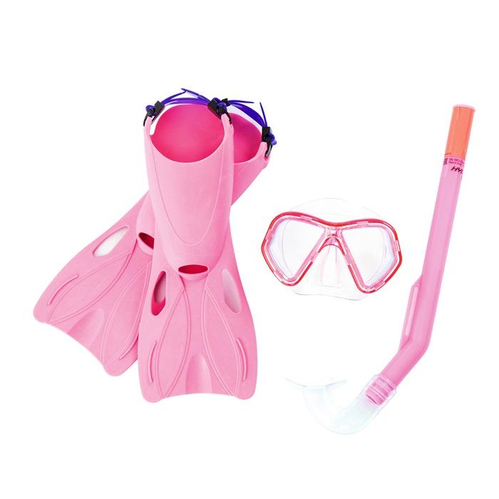 Купить Набор для ныряния - Галапагосы, маска, трубка, ласты, 2 цвета, Bestway