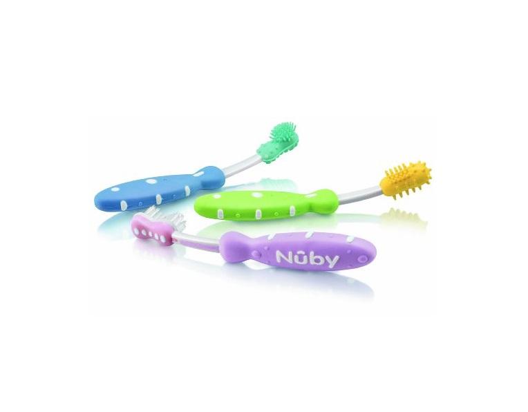 Набор из 3 пластиковых детских зубных щёток, 3 цветапредметы гигиены<br>Набор из 3 пластиковых детских зубных щёток, 3 цвета<br>