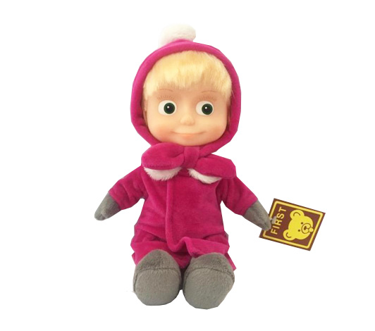 Мягкая игрушка из серии Маша и медведь – Маша в зимней одежде, 29 см., озвученная фото