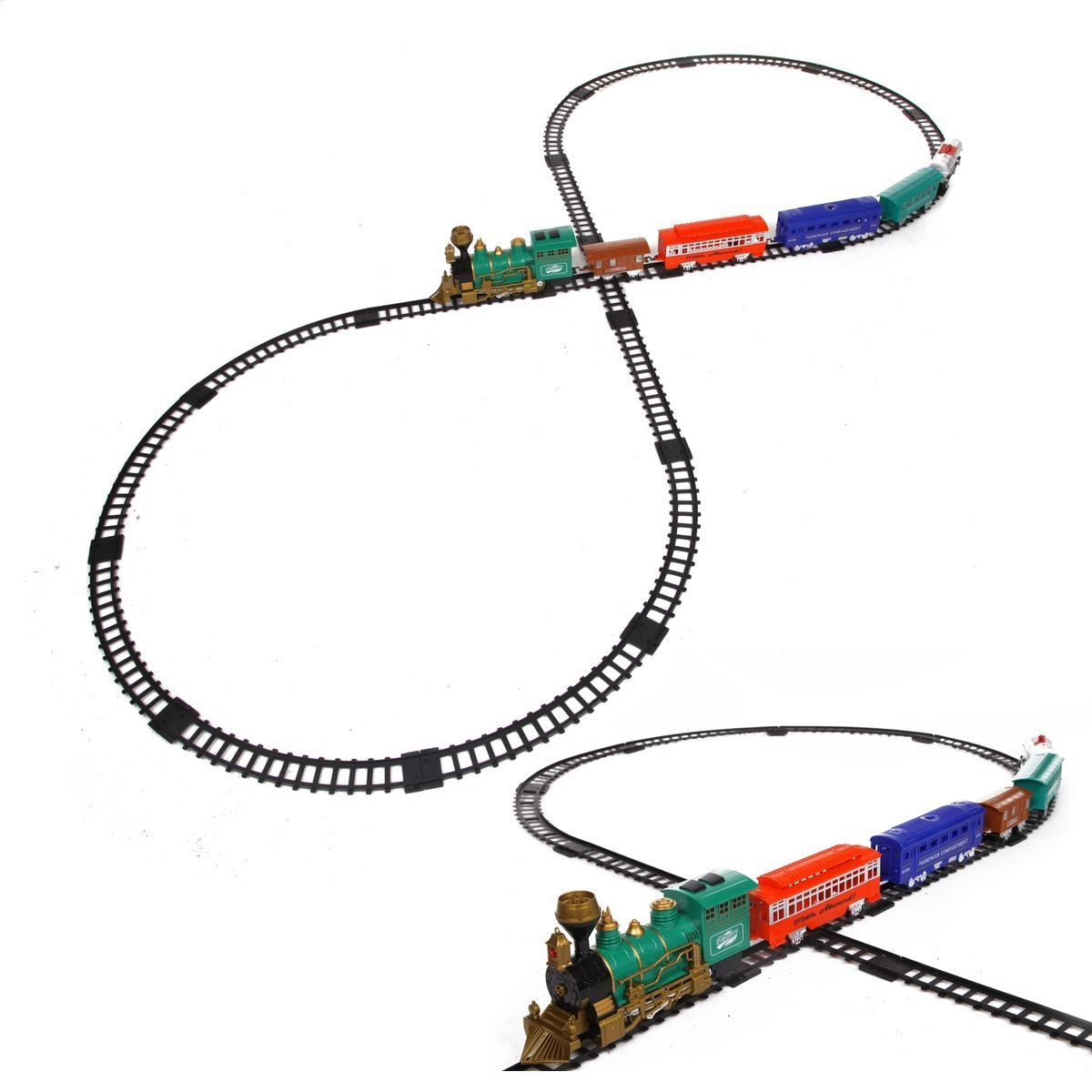 Купить Железная дорога со световыми, звуковыми эффектами и дымом – Classic train, Yako